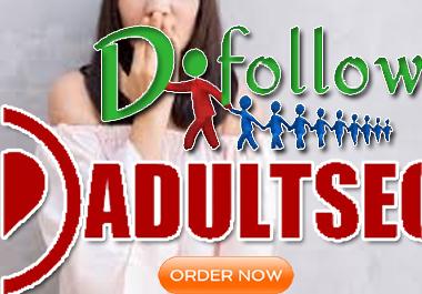 Create XXX 350+ Adult SEO Dofollow Backlinks-100 Manually Work