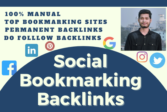 I will create 100 best quality social bookmarking SEO backlinks on social sites.