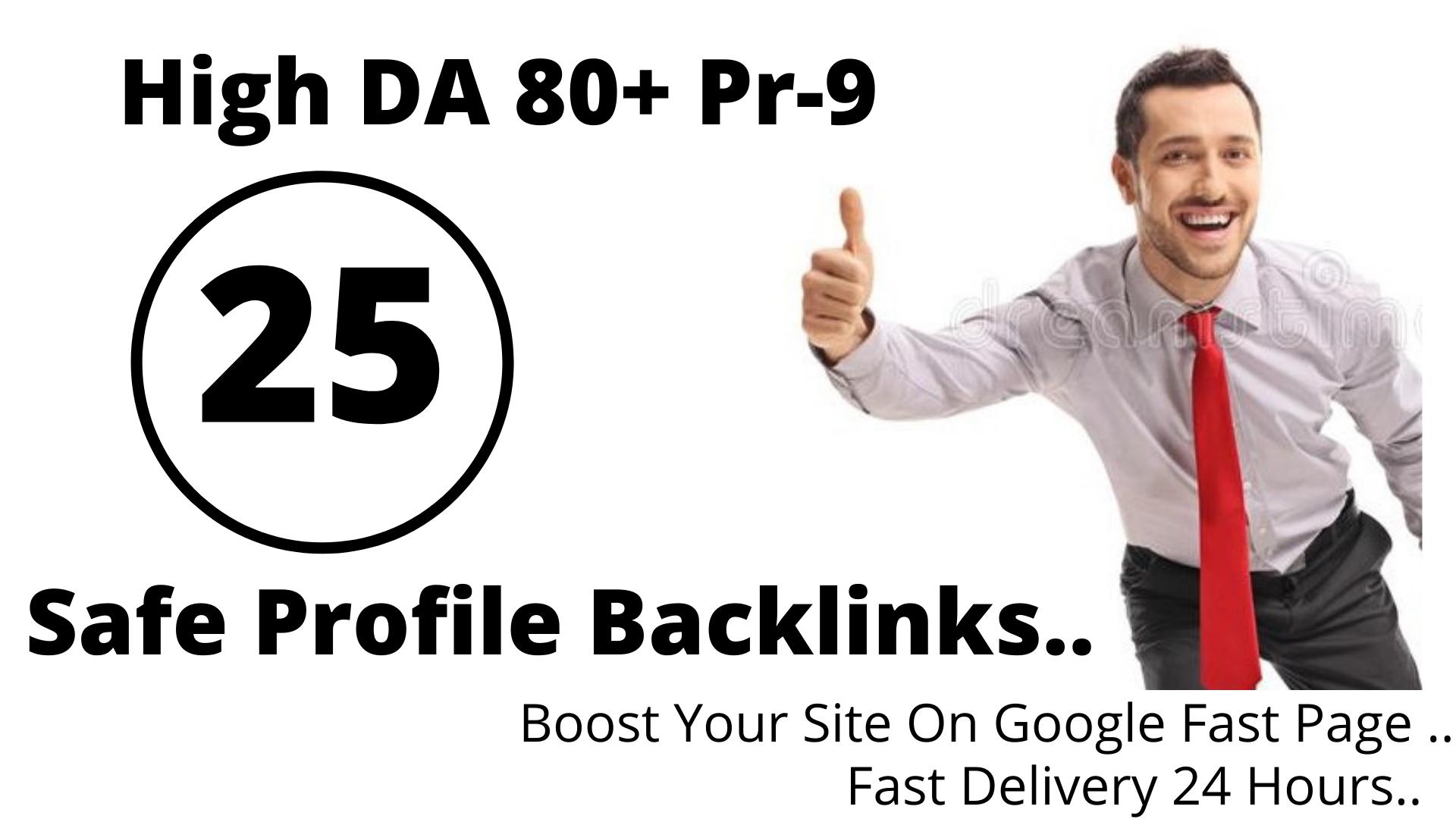 Manually DA 80+ PR9 25 High Authority SEO Safe Profile Backlink
