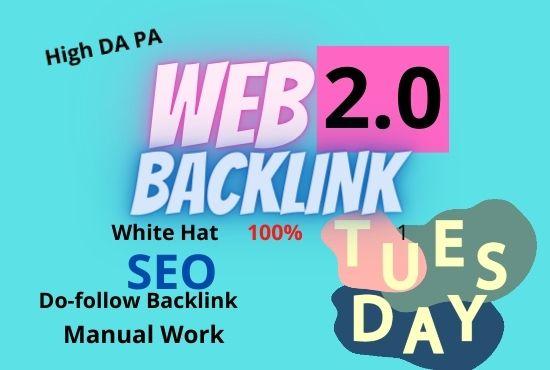 I will Create 30 Web2.0 High DA Do-follow Backlinks unique permanent link buildings