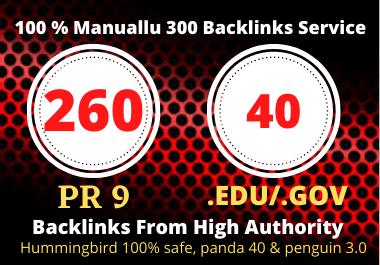 260 Pr9 + 40 Edu/Gov Pr9 High Authority Profile Backlinks-Boost Your Rank On Google