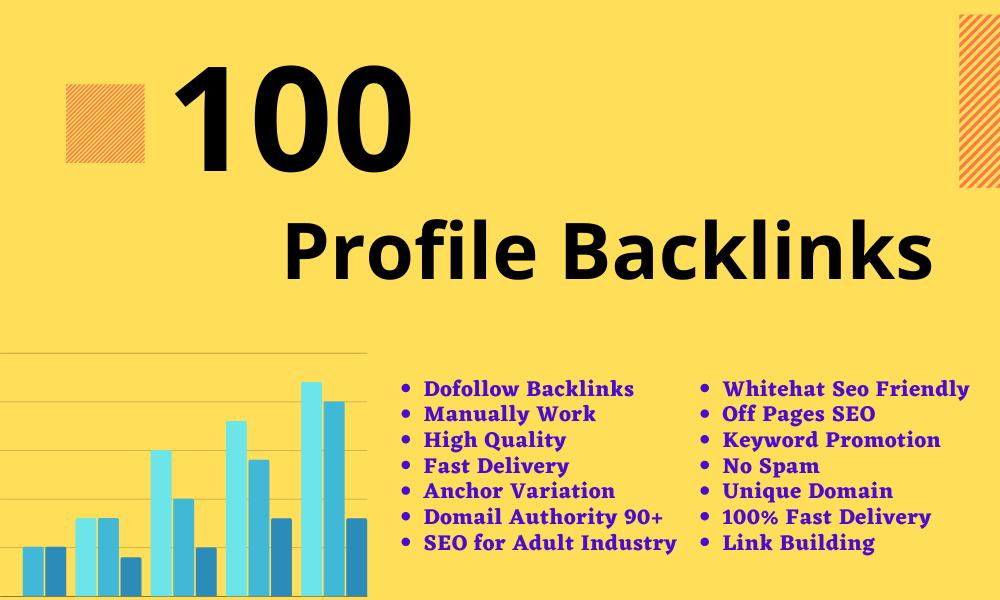 I will Create Manual 100 High Quality Profile Backlinks