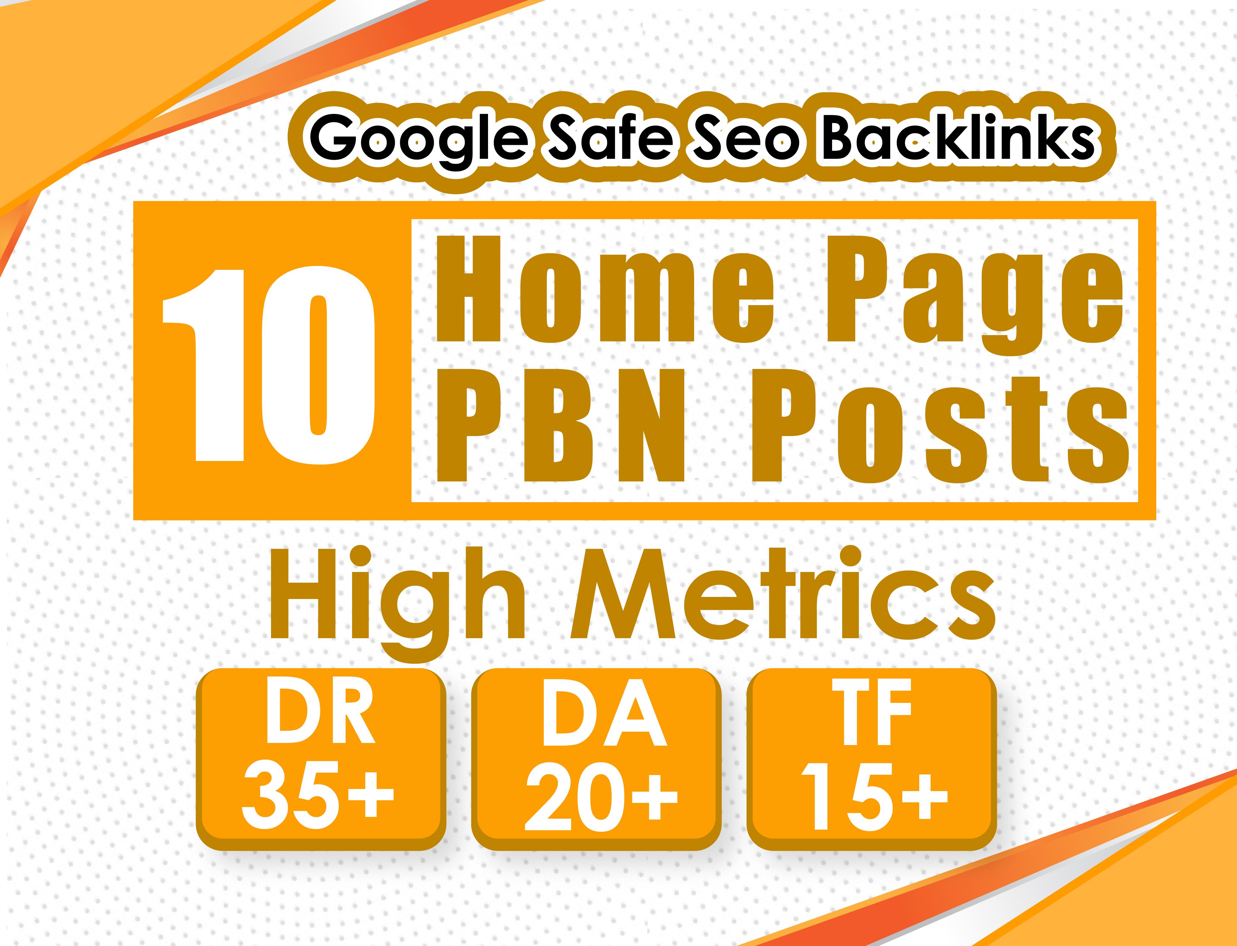 Build 10 HomePage Post DA 20 Plus PBNs