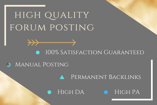 I will provide 35 + high DA PA forum posting with backlinks