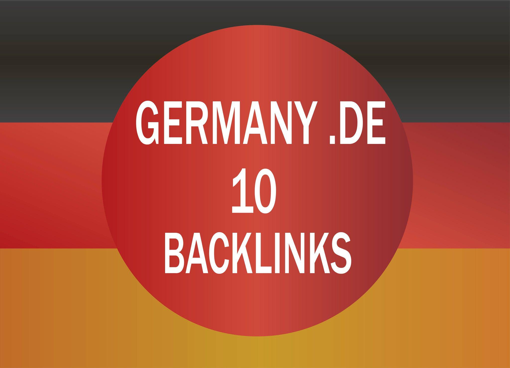 do 10 Germany dot de dofollow backlinks