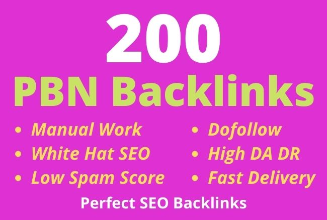 I will build 200 high DR contextual quality PBN backlinks