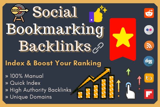 I Will Manually Do 50 High Quality Social Bookmarking Backlinks On High Authority Websites