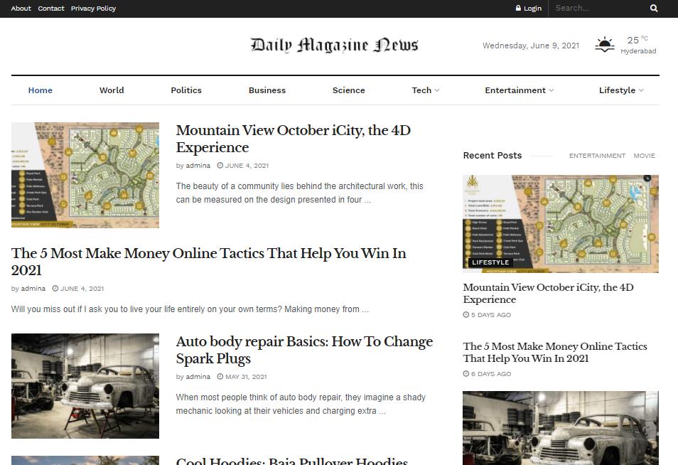 I will publish your article magazine website daily magazine news