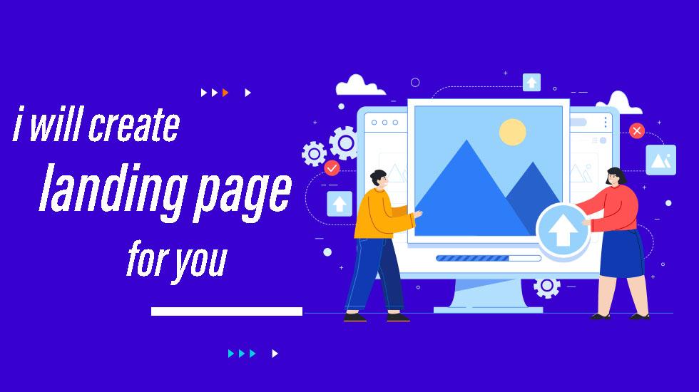 I will create modern landing page design responsive