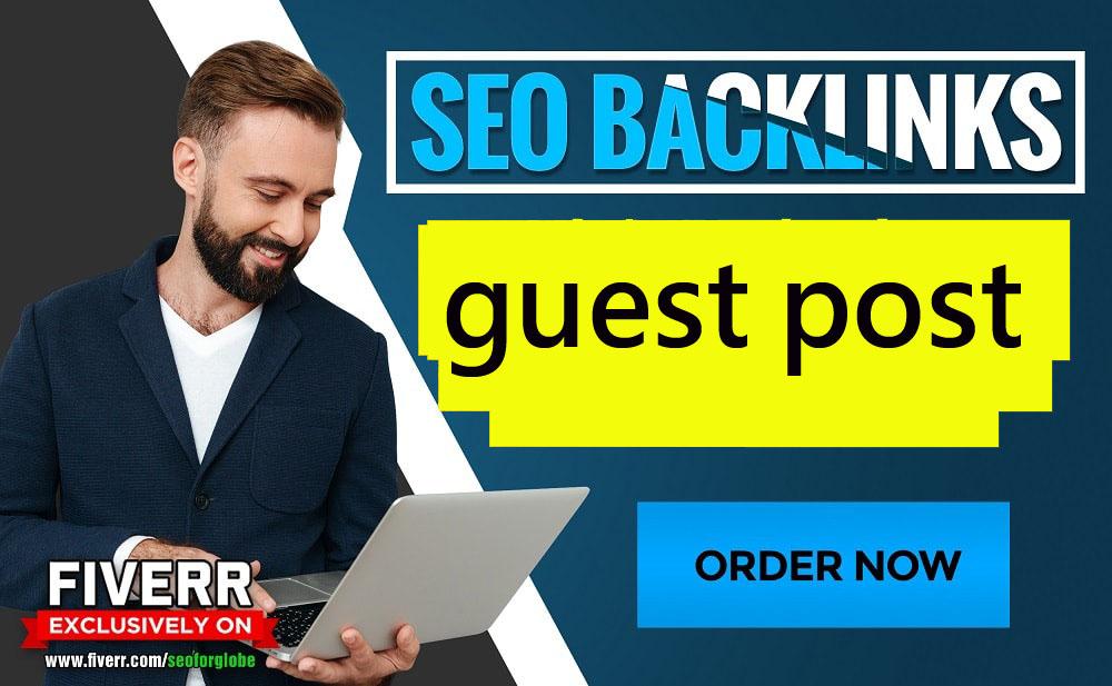 I will guest post on da 60 google news for seo backlinks