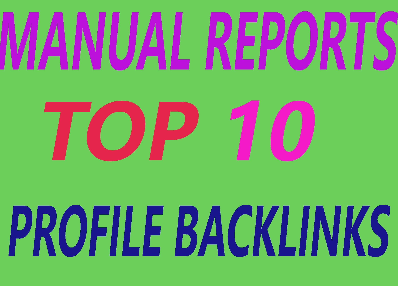 10+ high authority profile backlinks