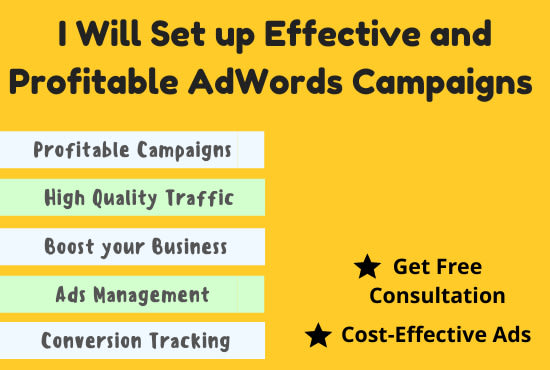 I will setup and manage your google adwords campaign
