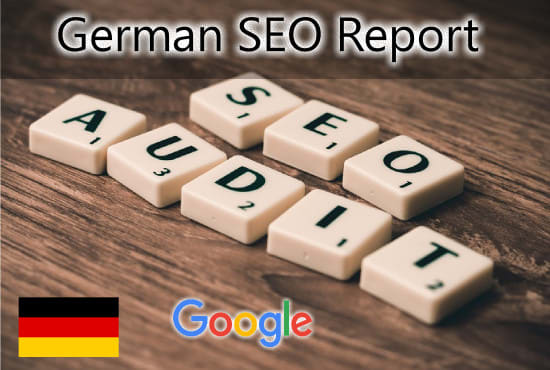 I will create a german SEO audit report action plan for ranking