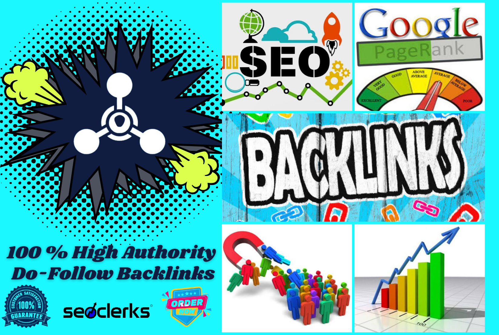 I will build 100 high authority white hat do-follow backlinks