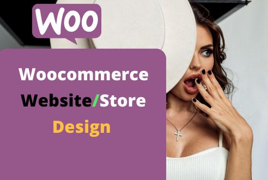 I will design your wordpress woocommerce website