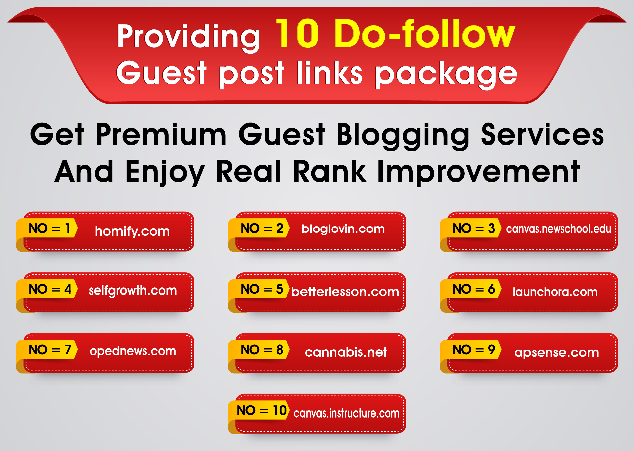 I can Do 10 Do-follow Guest post links package