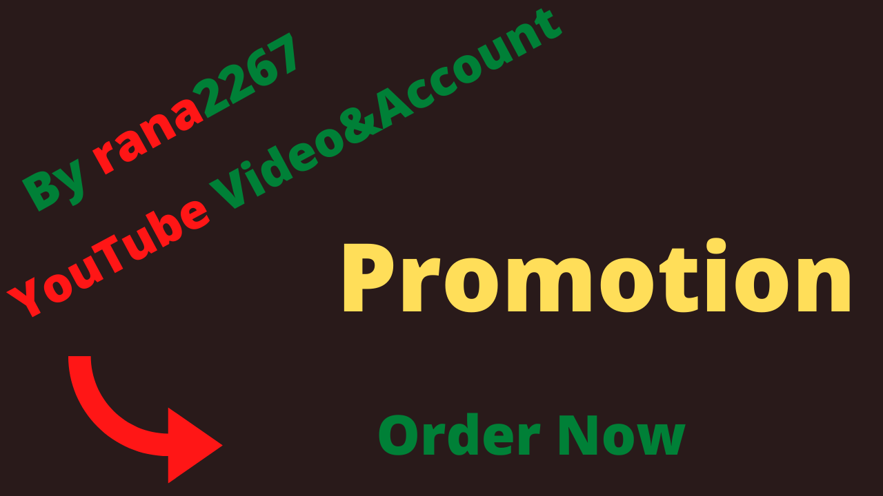 fast you tube video and account promotion