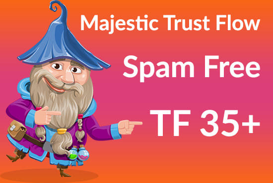 I will help you to increase majestic trust flow TF 35 plus