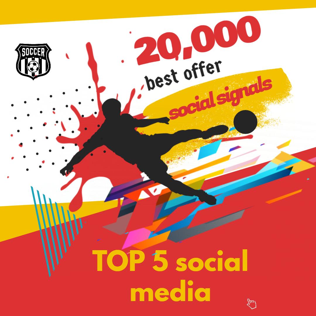 Bookmarking 20,000 TOP 5 social media Social Signals From Social Networking