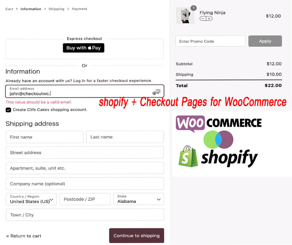 I will do checkout page for woocommerce like shopify