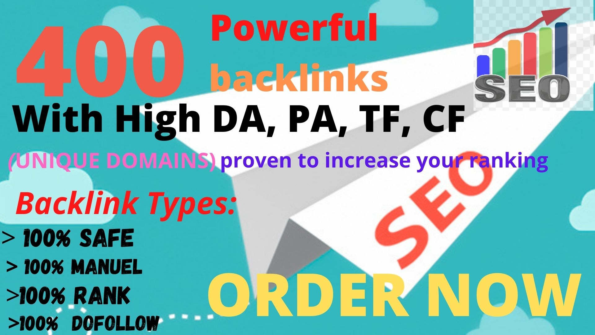 Get powerfull 400+ pbn backlink with high DA/PA/TF/CF on your homepage with unique website Perfect