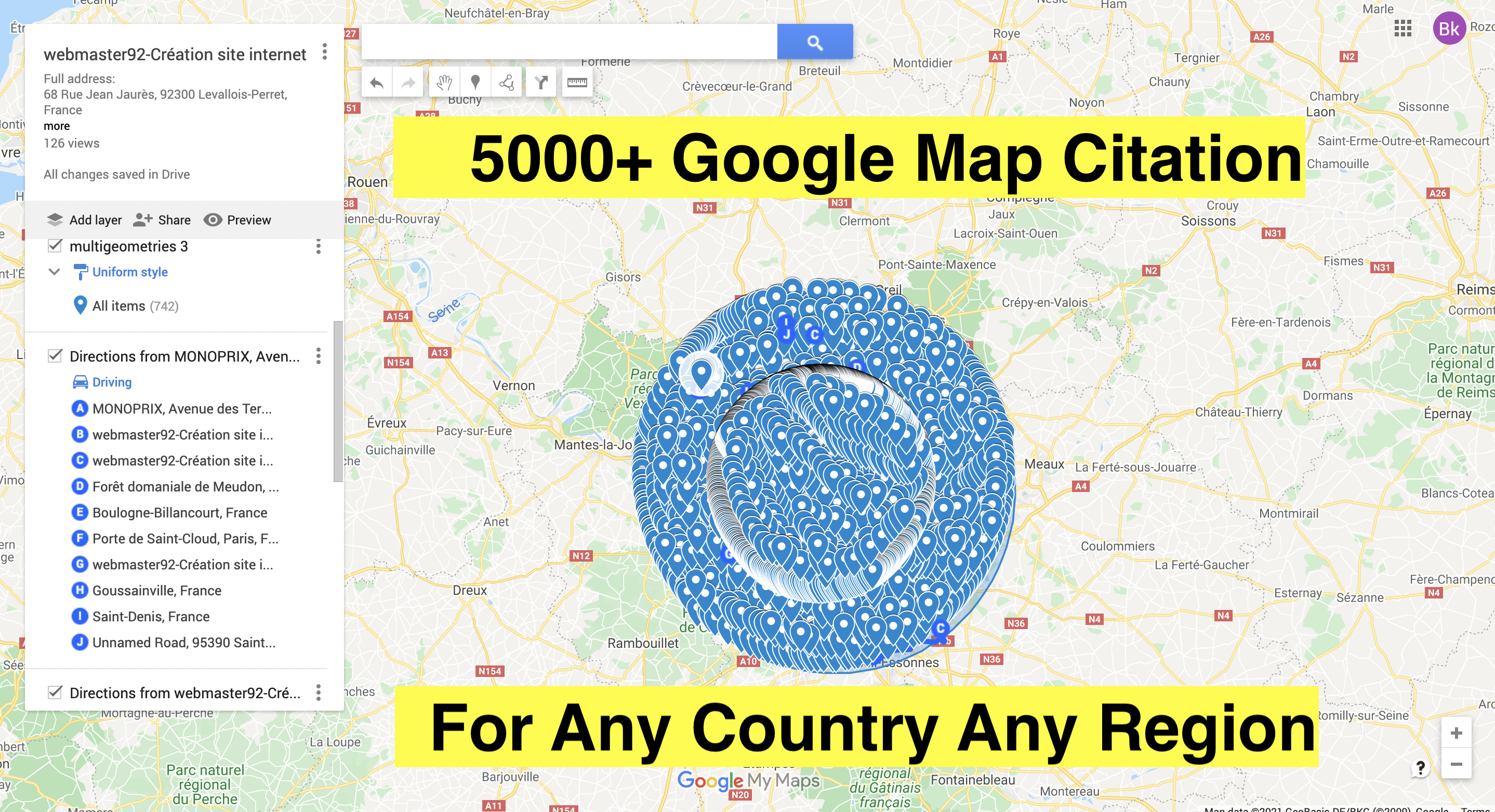 DO 5000+ google maps citations for gmb ranking and local SEO
