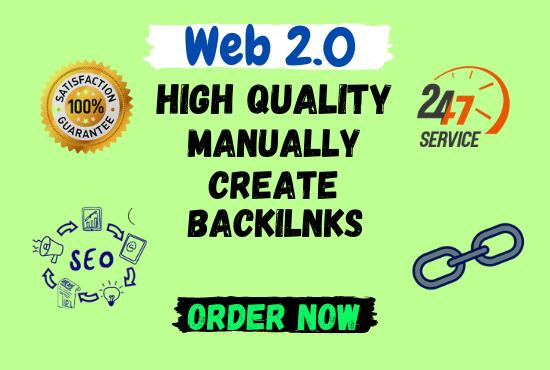 I Will manually build high authority 50 web2.0 backlinks