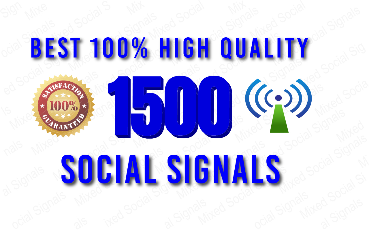 Best 100 high Quality Viral Your Website Through 1500 Social Signals & Social Share I will offer yo