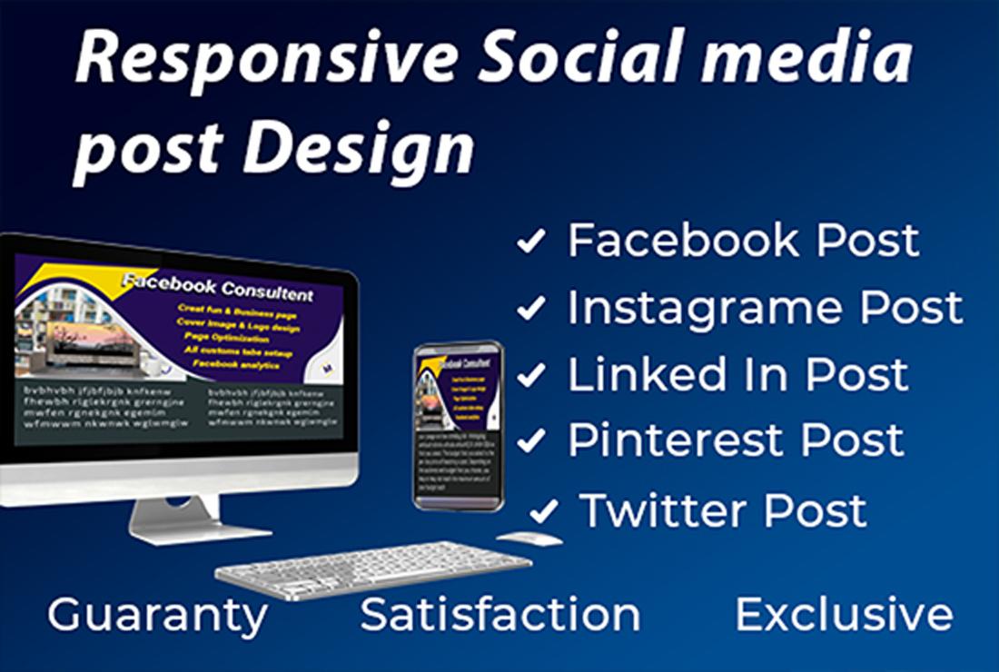Responsive social media post design