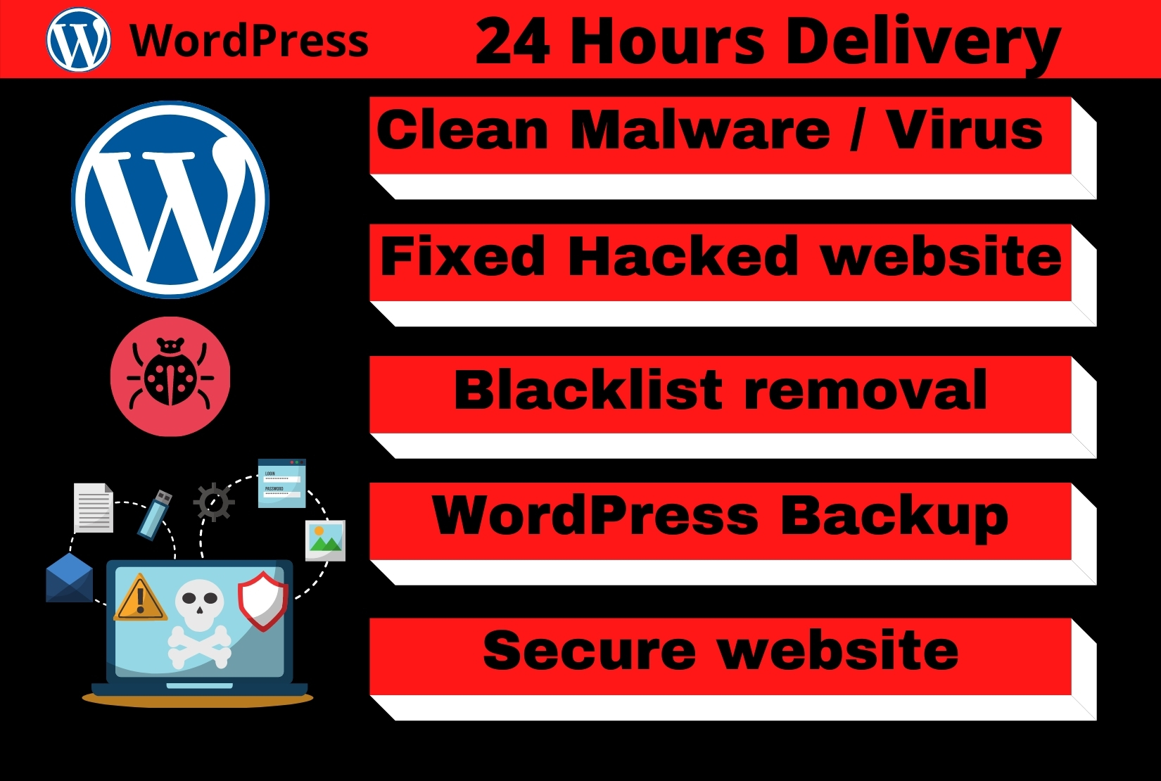 do wordpress malware removal,fix hacked wordpress website