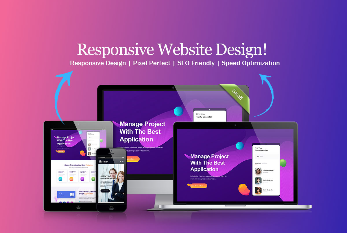 I will create a modern responsive wordpress landing page or home page