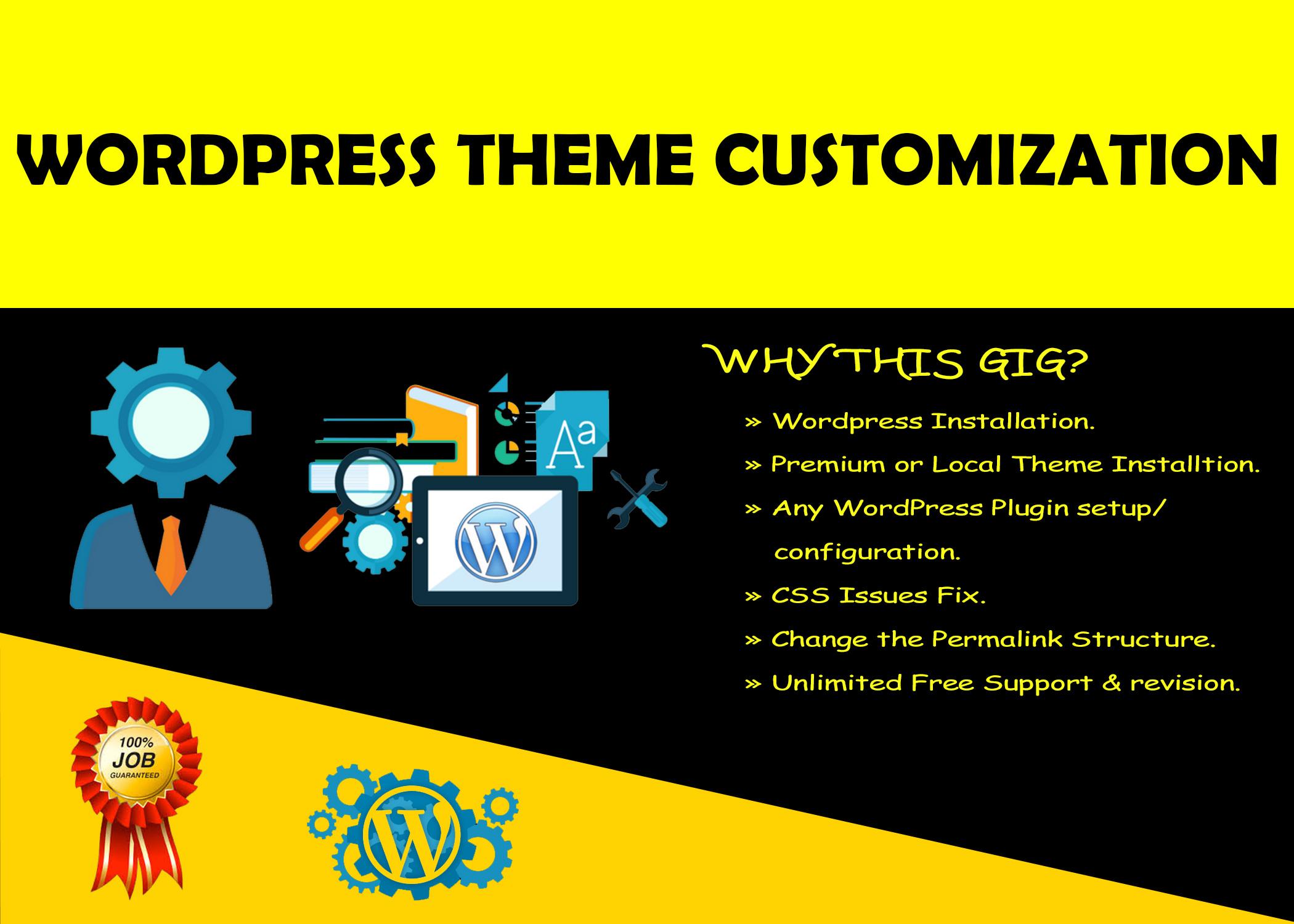 I will install,  fix,  do themeforest wordpress theme customization