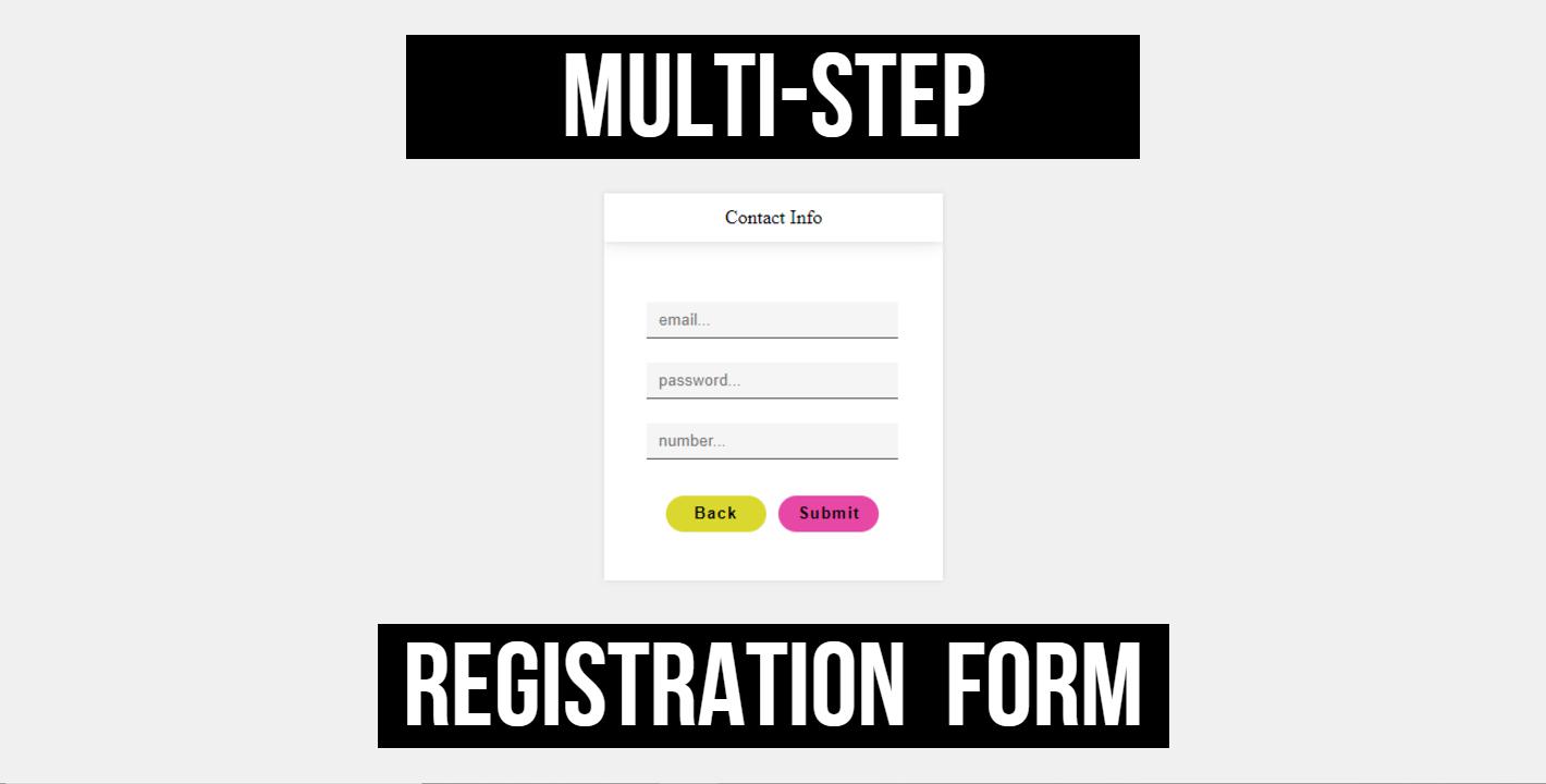 multi-step users registration form
