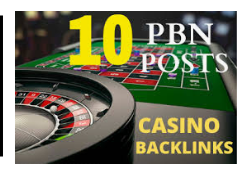 10 Trust Flow permanent and High Quality Homepage Casino PBN Backlinks.