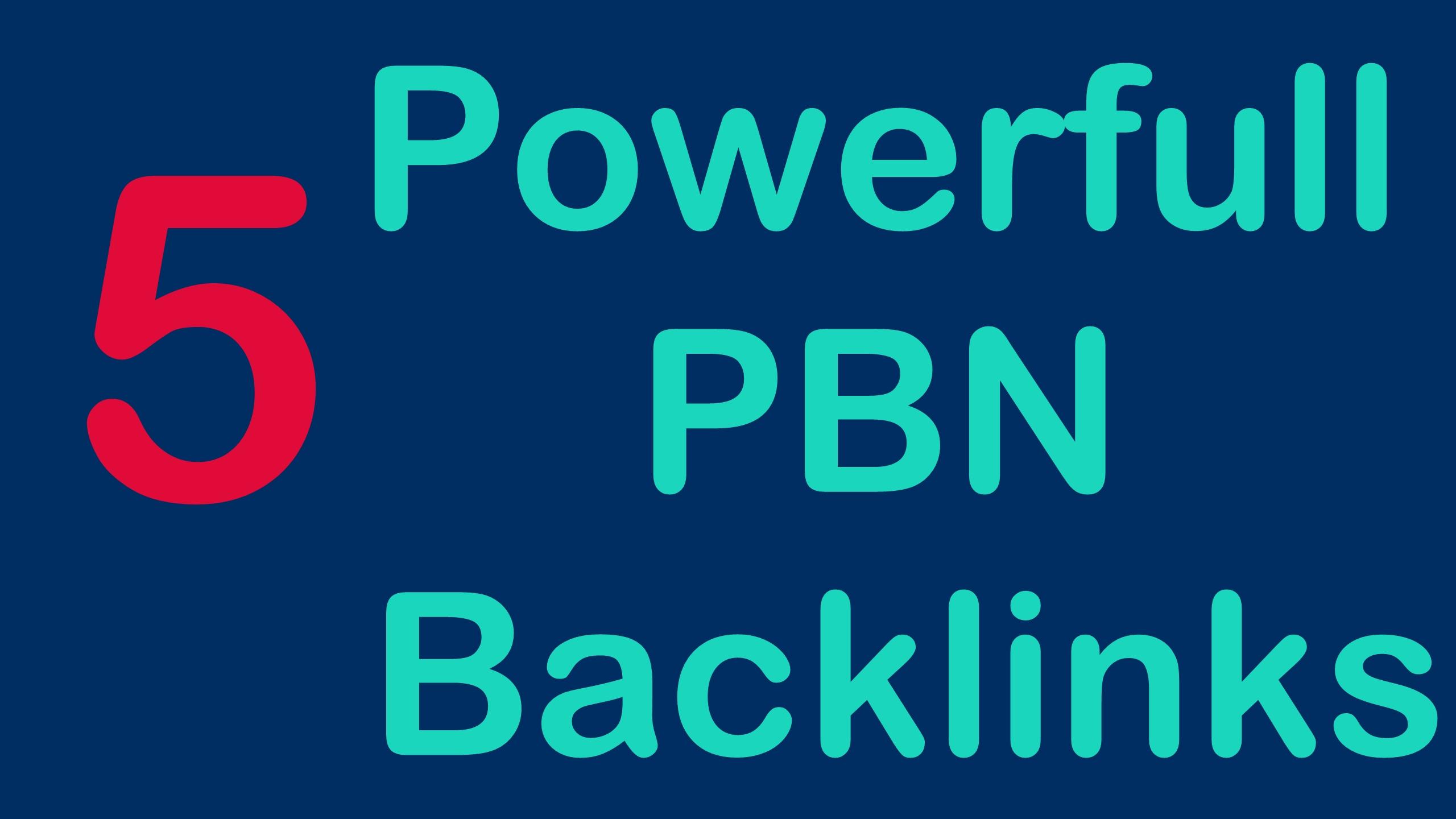 I will Make 5 High Quality DA PA CF TF Homepage PBN backlinks