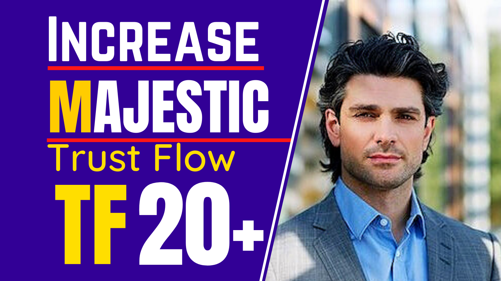 I will increase your majestic trust flow 35 plus,  increase tf
