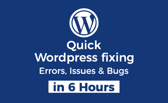 I will fix any kind of Wordpress website error,  issues in 6 hours