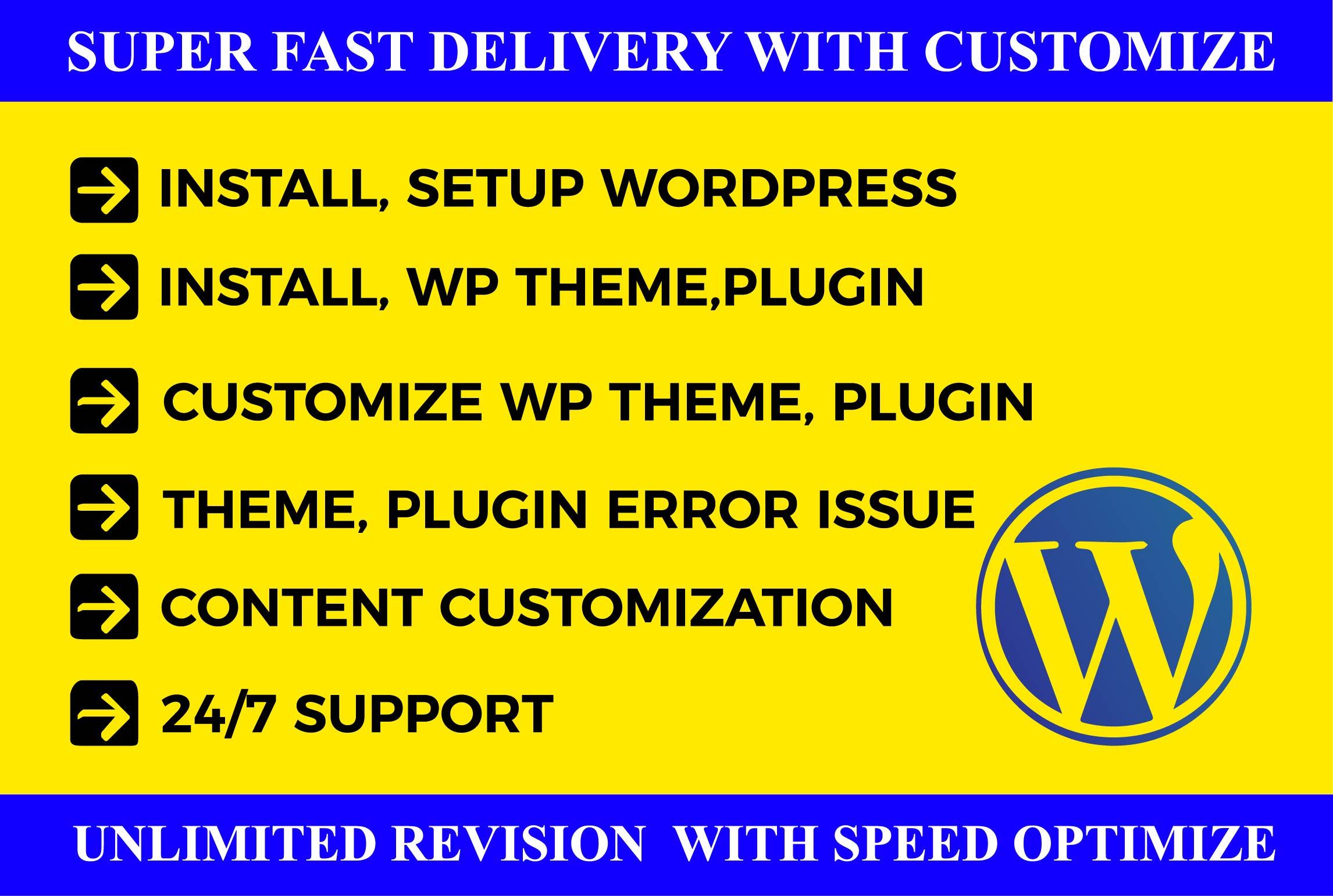 I will create Wordpress website redesign or Wordpress customization