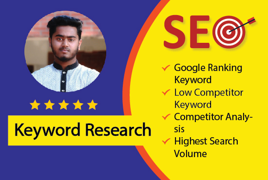 55 low-competitive SEO keywords research for any niche or website and competitor analysis.