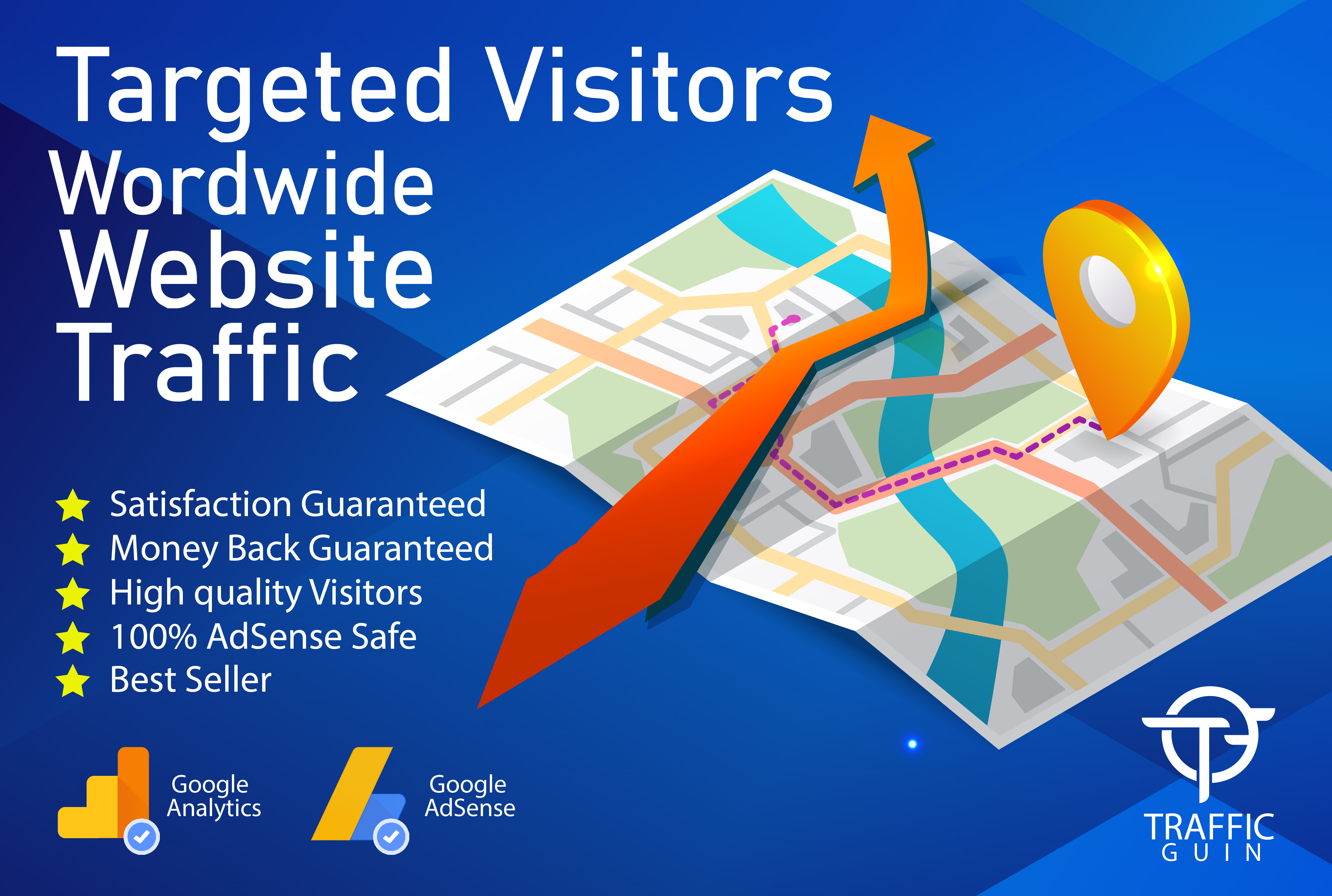 I will drive 100,000+ real targeted web traffic to your website