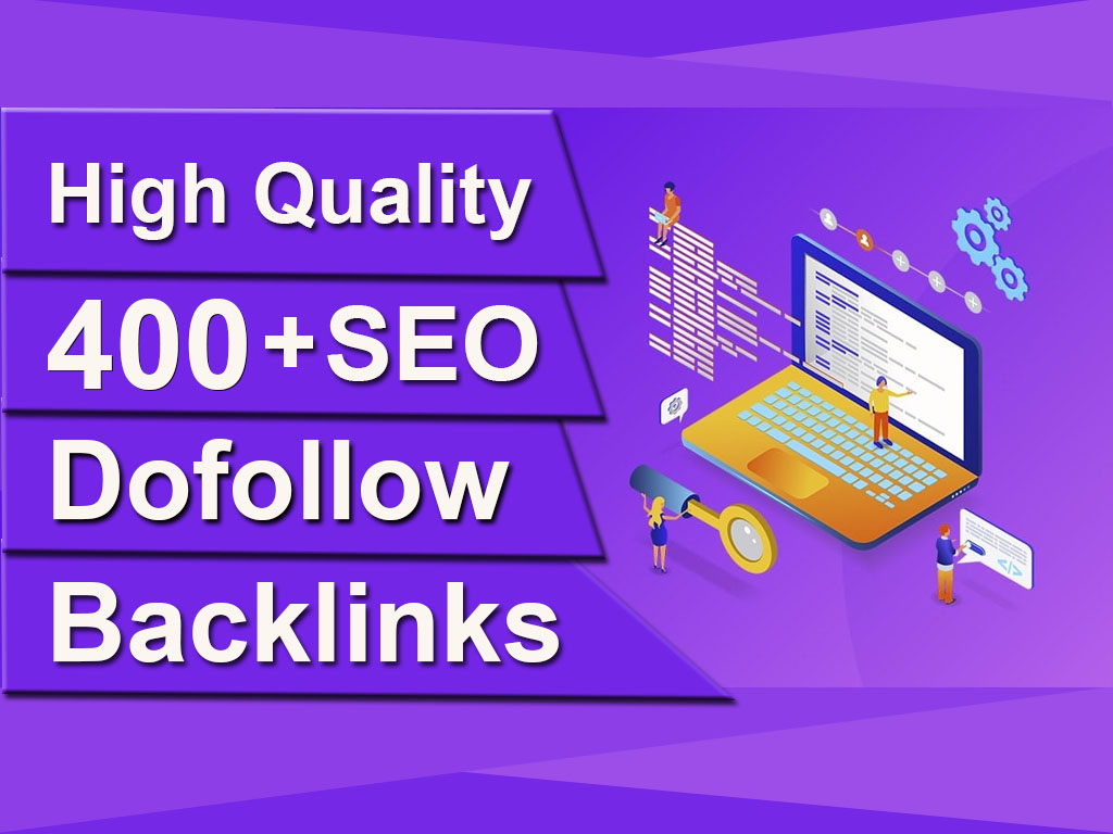 I will rank you high in google ranking with 400 seo dofollow backlinks quality link building