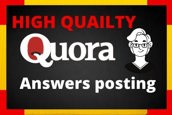 I will Promote your website with 20 HQ Quora answer Backlinks