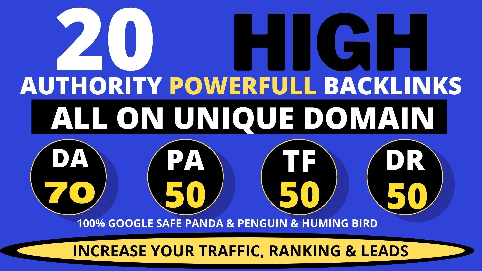 I will create 20+ high quality contextual dofollow seo Backlinks service