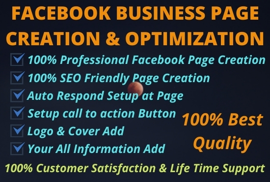 I will Create & Design an Impressive Facebook business page.