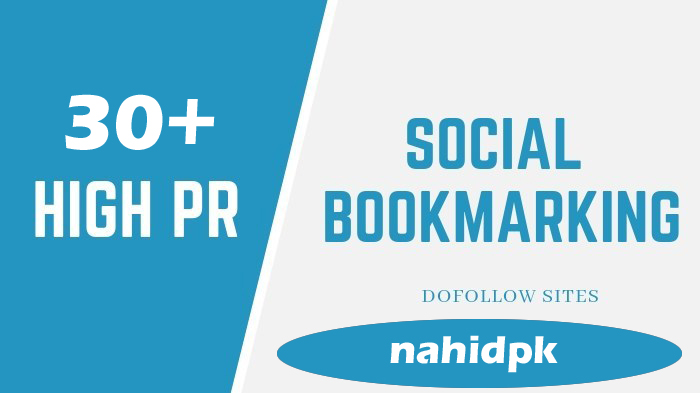 30+High PR Social Bookmarking.