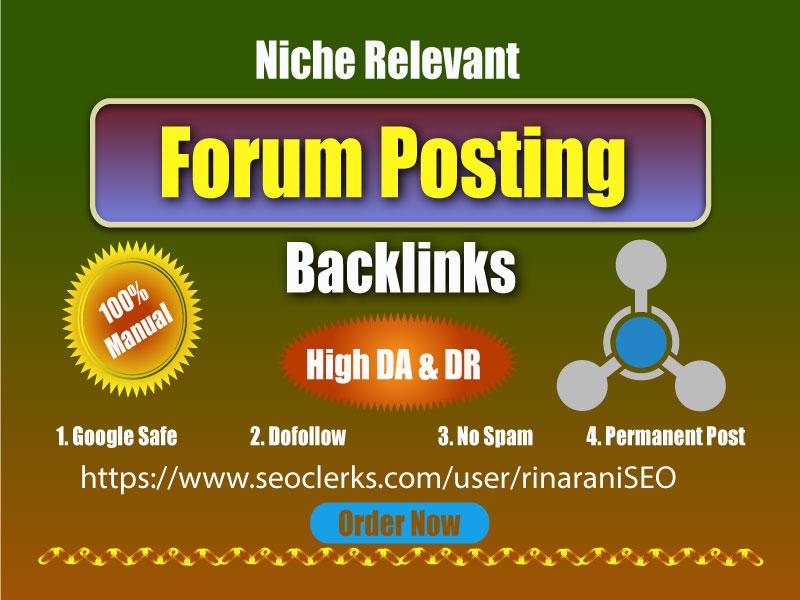 Create 50 Do-follow Forum Post Backlinks for rank your website