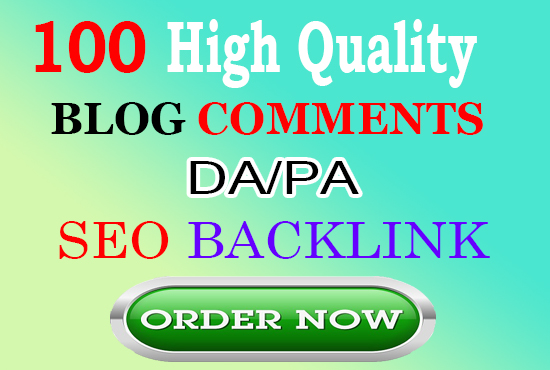 I will build 100 blog comments backlinks manually