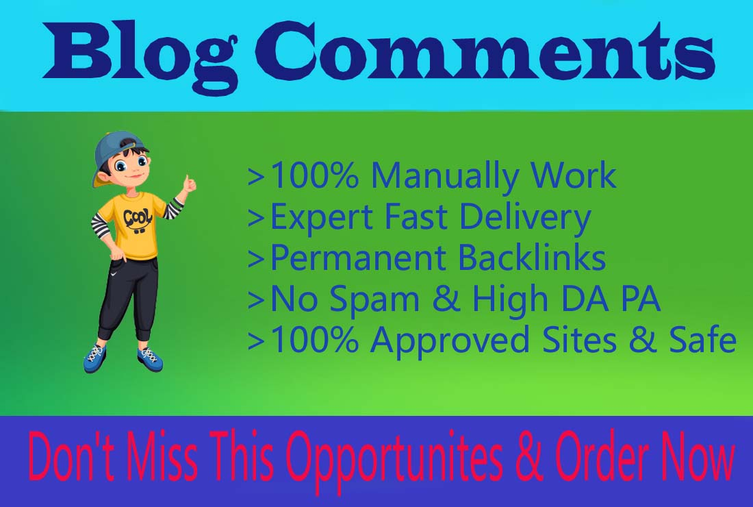 I will Make 100 manually Blog Comments with high DA PA for Website Ranking
