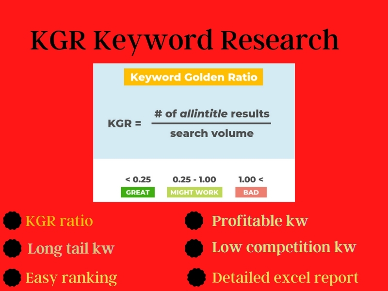 25 KGR keyword or premium keyword research for your website