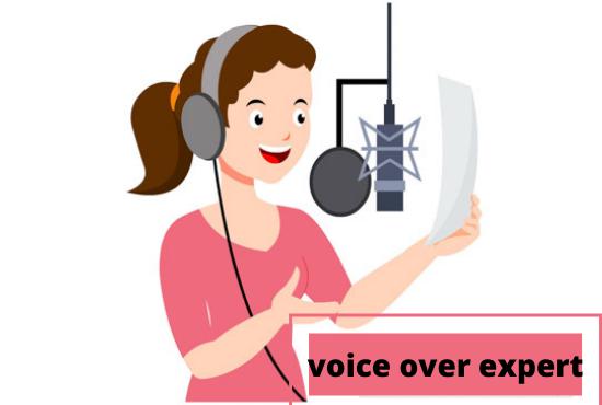 I will record a pro,  studio quality female voice over